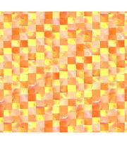 Keepsake Calico Cotton Fabric 44''-Orange & Yellow Mosaic, , hi-res
