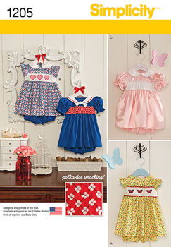 Simplicity Pattern 1205A Xxs-Xs-S-M-Babies
