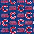 Chicago Cubs Cotton Fabric -Logo