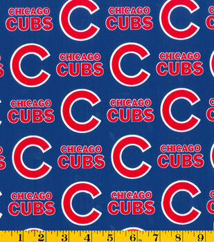 Chicago Cubs Cotton Fabric -Logo