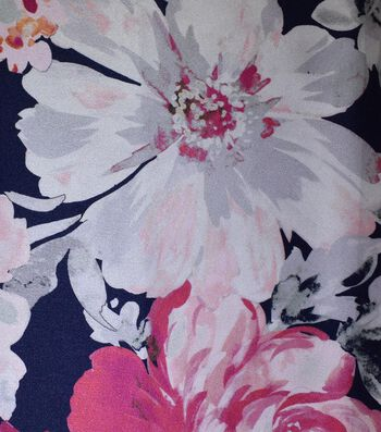 Gianna Printed Charmeuse Fabric 43''-Watercolor Floral