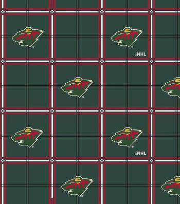 Minnesota Wild Flannel Fabric 44''-Plaid
