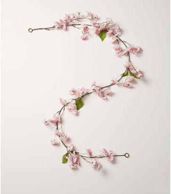Fresh Picked Spring 66'' Cherry Blossom Garland-Pink
