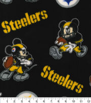Pittsburg Steelers Fleece Fabric-Mickey Mouses, , hi-res