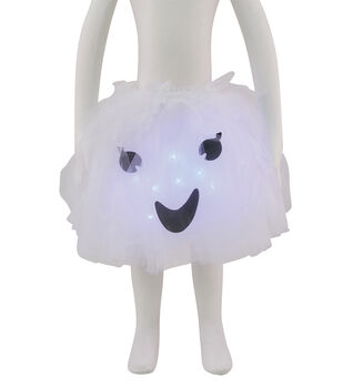 Maker's Halloween Child Ghost Tutu with LED Lights