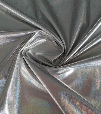 "Metallic Poly Spandex Fabric 59""-Silver"