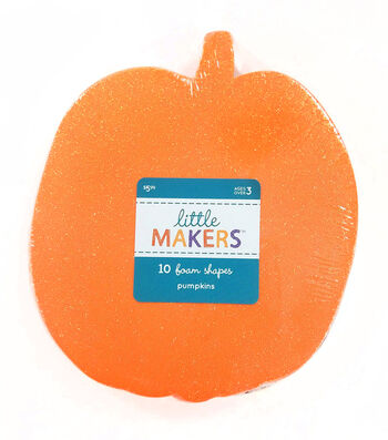 Little Maker's 10 Foam Shapes-Pumpkin