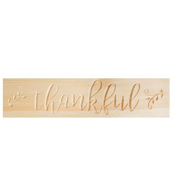 Fab Lab Autumn Wood Porch Sign-Thankful