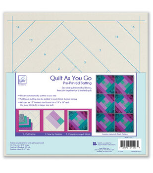 June Tailor Quilt As You Go Batting Fabric-London Labyrinth