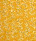 Keepsake Calico Cotton Fabric -Daffodil Textured Scroll