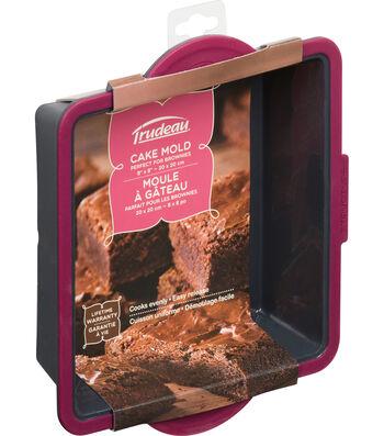 """Structure Pro Square Cake Pan Fuchsia & Gray-Square 8"""""""
