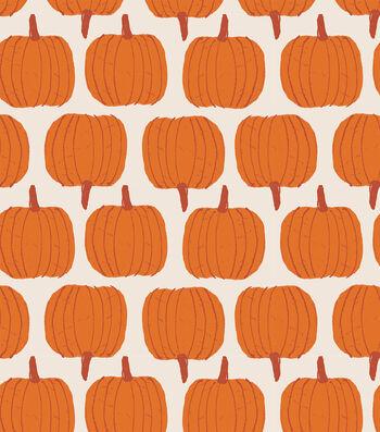 Simply Autumn Pumpkins 52''X90'' Peva Tablecloth