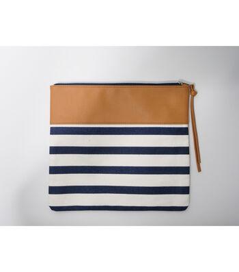 Clutch-Navy & Tan Stripe