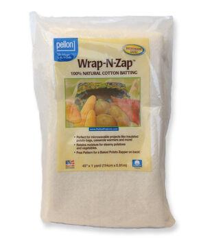 Pellon Wrap-N-Zap Natural Cotton Batting 45''x1 yd