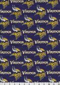 Minnesota Vikings Cotton Fabric 58\u0027\u0027-Mascot Logo