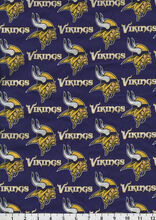 Minnesota Vikings Cotton Fabric -Mascot Logo, , hi-res