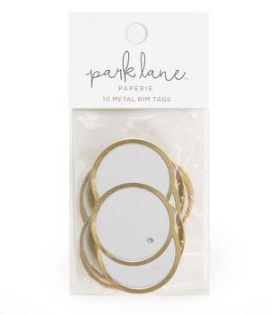 Park Lane Paperie 10 pk Metal Rim Tags-Gold & Gray