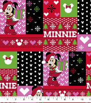 Disney Minnie Mouse Cotton Fabric-Ugly Sweater, , hi-res
