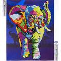 Leisure Arts Diamond Art Advanced Kit 14.57\u0027\u0027X18.5\u0027\u0027-Elephant