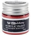Prima Marketing Art Alchemy 1.7 oz. Acrylic Paint-Metallique Rusty Red