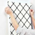 York Wallcoverings Wallpaper-Modern Trellis