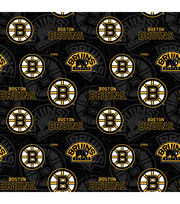 Boston Bruins Cotton Fabric-Tone on Tone, , hi-res