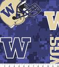 University of Washington Huskies Fleece Fabric -Digital Camo