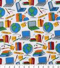 Novelty Cotton Fabric 43\u0022-Back To School