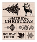 Hero Arts Fancy Christmas Mounted Rubber Stamp Set