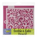 Crafter\u0027s Workshop Cookie & Cake Stencils 5.5\u0027\u0027X5.5\u0027\u0027-Swirls