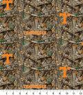 Tennessee Collegiate Realtree Cotton Fabric 42\u0022-Camo & Logo