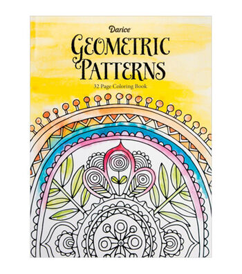 Adult Coloring Book-Darice Geometric Patterns