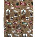 Fleece Blanket 48x60\u0022-Cabin In The Woods by Riley Blake