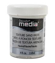 DecoArt Media Texture 4 fl. oz. Sand Paste-White, , hi-res