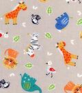 Nursery Cotton Fabric 43\u0022-Tossed Safari