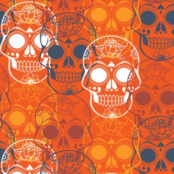 Sugar Skulls Halloween Pattern
