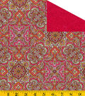 Made In America Double Faced Quilt - Ornate Main Pink