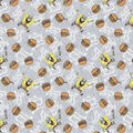 SpongeBob Knit Fabric-Krabby Patty