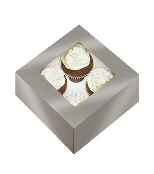 Cupcake Box-Silver