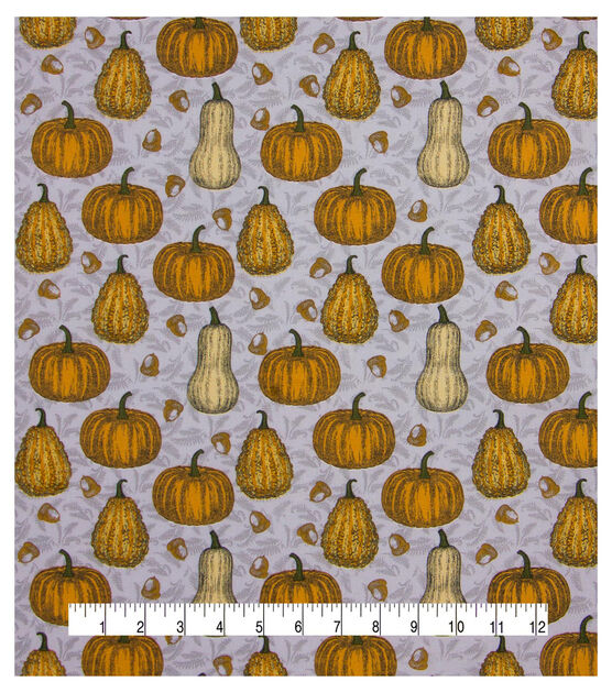 Fall Pumpkins Fabric Button Earrings