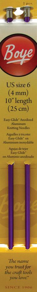 Single Point Aluminum Knitting Needles 10\u0022-Size 6/4mm