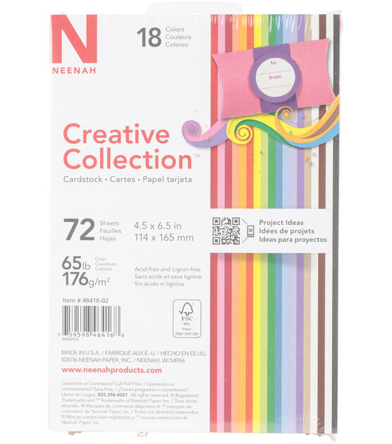 "Creative Collection Cardstock Starter Pack 4.5""X6.5"" 18 Bold, , hi-res, image 1"
