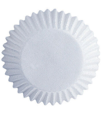 Wilton Glassine Coated Candy Cups-White 100/Pkg 1""
