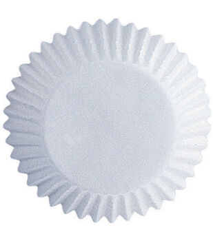 """Wilton Glassine Coated Candy Cups-White 100/Pkg 1"""""""
