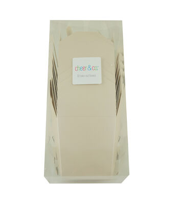 Cheer & Co. 10 pk Take Out Boxes-Pearlized Blush