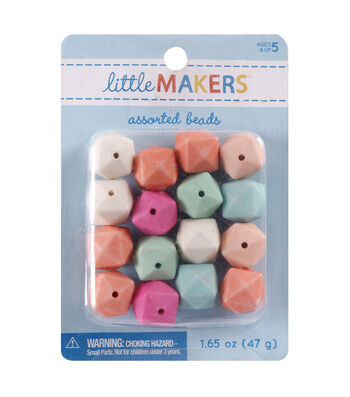 Little Maker's Angle Square Beads-Pastel Multi