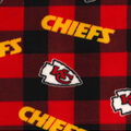 Kansas City Chiefs Fleece Fabric-Buffalo Plaid