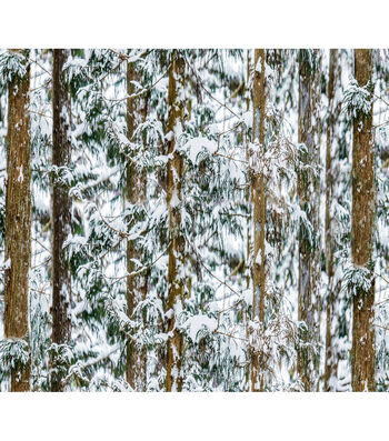 Christmas Cotton Fabric-Snowy Forest