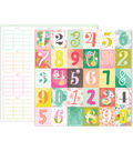 Pink Paislee Confetti Wishes 25 pk 12\u0027\u0027x12\u0027\u0027 Double-Sided Cardstock-#10