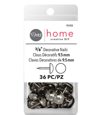 "Dritz 0.38"" Decor Upholstery Tacks 36pcs Nickel"